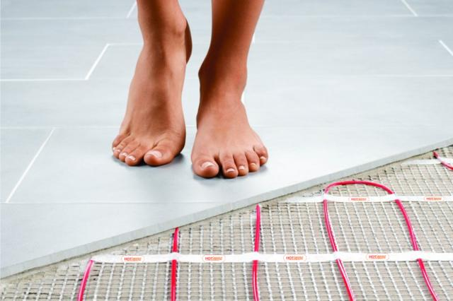 hotwire electric under floor heating system